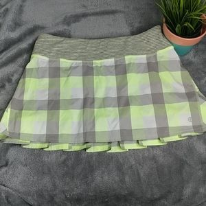 Lululemon Wet Dry Warm Plaid Skirt Size 6